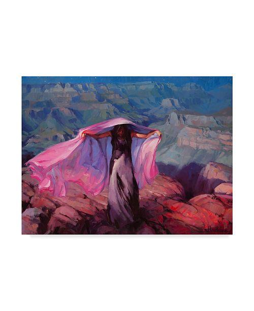"Trademark Global Steve Henderson 'She Danced By The Moon' Canvas Art - 18"" x 24"""