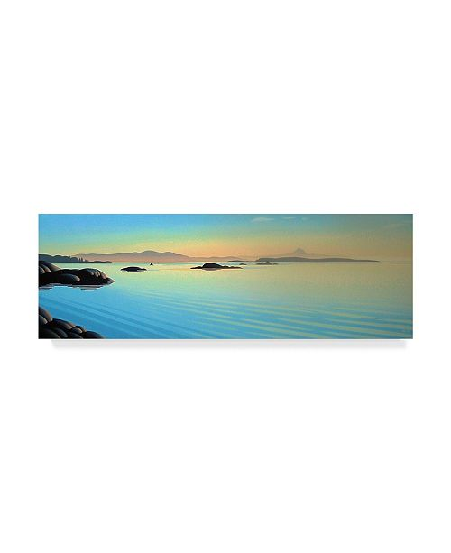 "Trademark Global Ron Parker 'Oak Bay View' Canvas Art - 16"" x 47"""