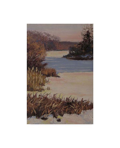 "Trademark Global Rusty Frentner 'Kent Lake Snow' Canvas Art - 16"" x 24"""