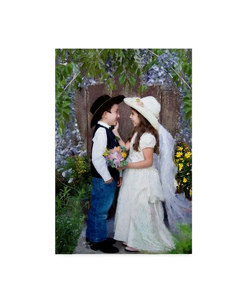 """Trademark Global Sharon Forbes 'Hitched' Canvas Art - 16"""" x 24"""""""