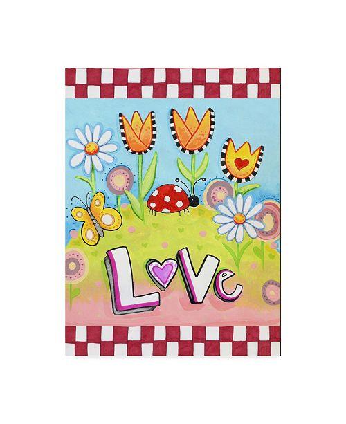 "Trademark Global Valarie Wade 'Love Bug' Canvas Art - 18"" x 24"""