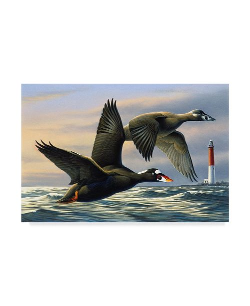 "Trademark Global Wilhelm Goebel 'Surf Scooters' Canvas Art - 16"" x 24"""