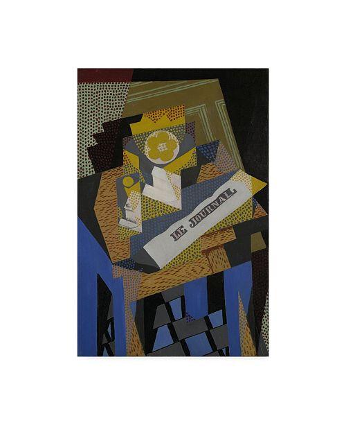 "Trademark Global Juan Gris 'Newspaper and Fruit Dish, 1916' Canvas Art - 16"" x 24"""
