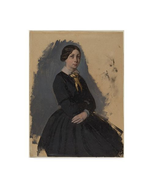 "Trademark Global Edgar Degas 'Young Woman In Black' Canvas Art - 24"" x 18"""