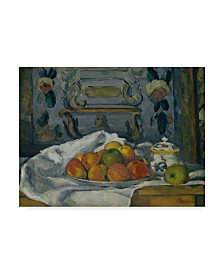 "Paul Cezanne 'Dish Of Apples' Canvas Art - 19"" x 14"""