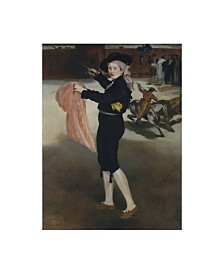 "Edouard Manet 'Mademoiselle V In The Costume Of An Espada' Canvas Art - 19"" x 14"""