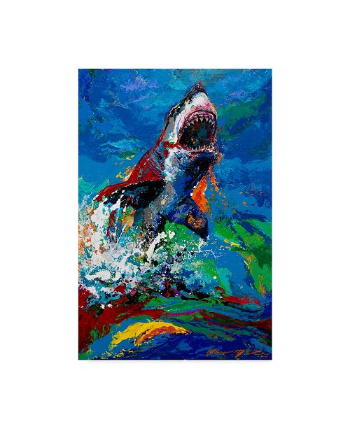 "Trademark Global Jace D. Mctier 'The Lawyer Breeching Great White Shark' Canvas Art - 22"" x 32"""