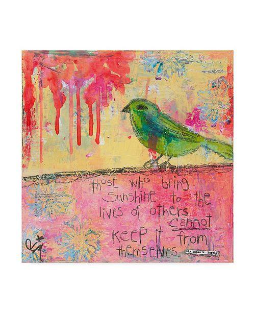 """Trademark Global Jennifer Mccully 'Sunshine Bird' Canvas Art - 24"""" x 24"""""""