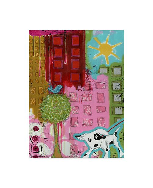 "Trademark Global Jennifer Mccully 'City Life' Canvas Art - 18"" x 24"""