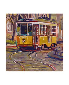 """Howie Green 'Italian Trolley' Canvas Art - 18"""" x 18"""""""