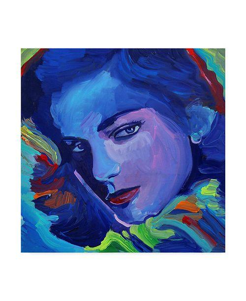 """Trademark Global Howie Green 'Lauren Bacall' Canvas Art - 14"""" x 14"""""""
