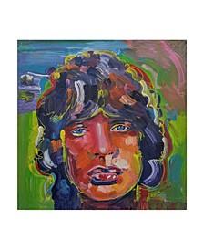 "Howie Green 'Mick Jagger Portrait' Canvas Art - 24"" x 24"""