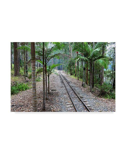 "Trademark Global Incredi 'Tracks Train' Canvas Art - 19"" x 12"""