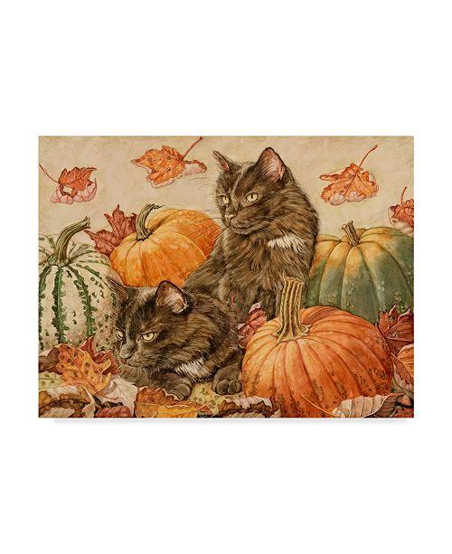 "Trademark Global Jan Benz 'Double Trouble Cats' Canvas Art - 19"" x 14"""