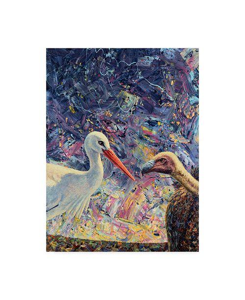 "Trademark Global James W. Johnson 'Living Between Beaks' Canvas Art - 24"" x 32"""