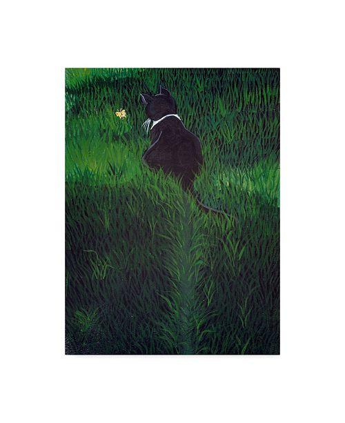 "Trademark Global Jan Panico 'Lila Lovebug Chasing A Butterfly' Canvas Art - 24"" x 32"""