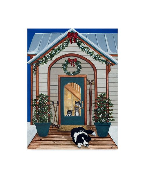 "Trademark Global Jan Panico 'Waiting For Santa Claws' Canvas Art - 24"" x 32"""