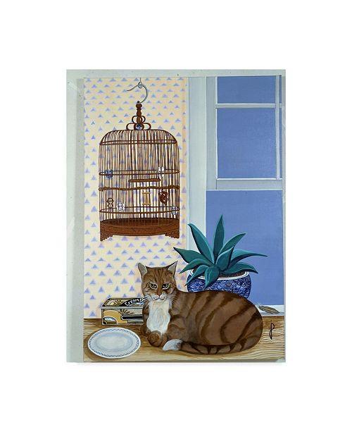 "Trademark Global Jan Panico 'The Empty Cage' Canvas Art - 14"" x 19"""