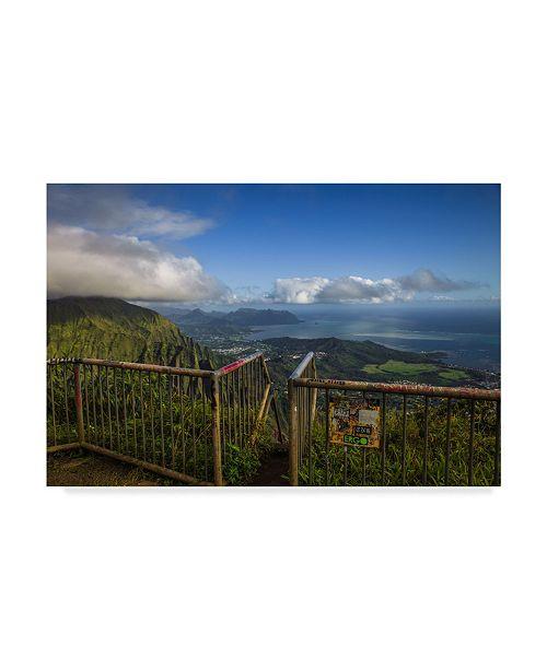 "Trademark Global Jason Matias 'Above Windward Oahu' Canvas Art - 24"" x 16"""
