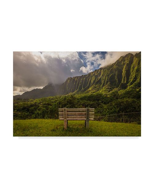 "Trademark Global Jason Matias 'Koolau Bench 2' Canvas Art - 24"" x 16"""