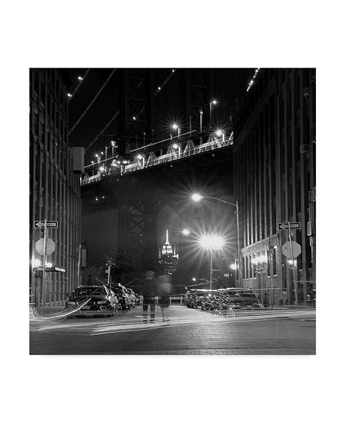 "Trademark Global Jason Matias 'New York Bridge Modern' Canvas Art - 18"" x 18"""