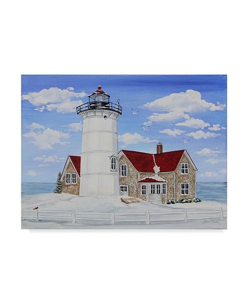 "Trademark Global Jean Plout 'Winter Lighthouse 2' Canvas Art - 24"" x 18"""