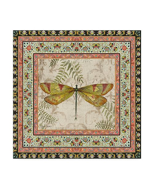"Trademark Global Jean Plout 'Bohemian Dragonfly 3' Canvas Art - 18"" x 18"""