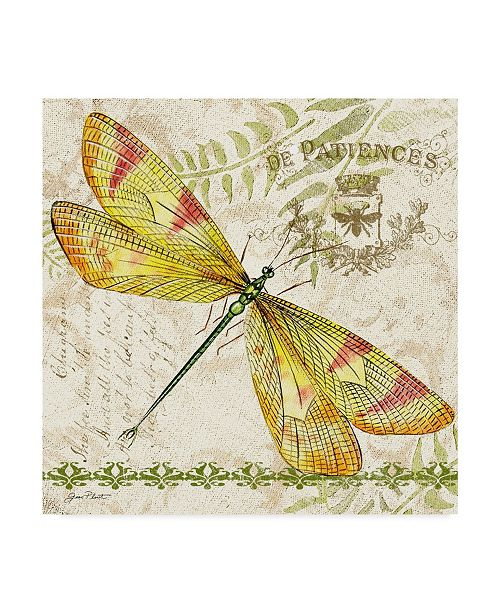 "Trademark Global Jean Plout 'Dragonfly Daydreams 4' Canvas Art - 14"" x 14"""