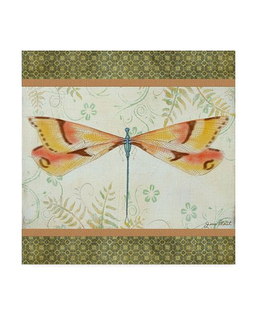 "Trademark Global Jean Plout 'Lebellule 2 Dragonfly' Canvas Art - 18"" x 18"""