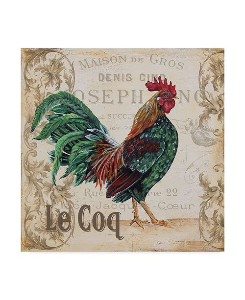 "Trademark Global Jean Plout 'Le Coq 6' Canvas Art - 14"" x 14"""