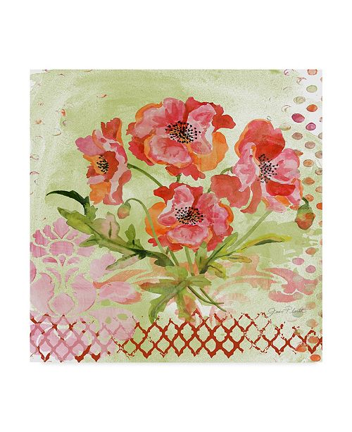 "Trademark Global Jean Plout 'Garden Beauty 4' Canvas Art - 24"" x 24"""