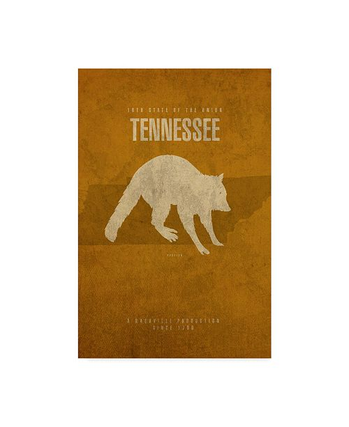 """Trademark Global Red Atlas Designs 'State Animal Tennessee' Canvas Art - 16"""" x 24"""""""