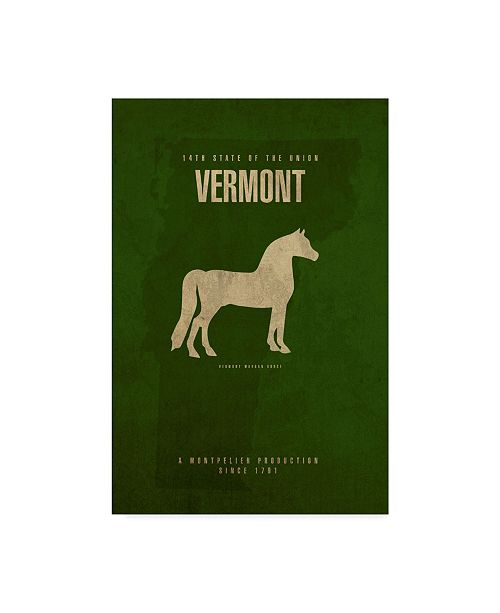 "Trademark Global Red Atlas Designs 'State Animal Vermont' Canvas Art - 22"" x 32"""