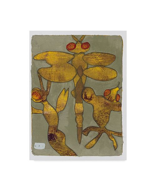 """Trademark Global Maria Pietri Lalor 'Dragonfly And Friends' Canvas Art - 24"""" x 32"""""""