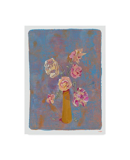 """Trademark Global Maria Pietri Lalor 'Old Fashioned Roses' Canvas Art - 14"""" x 19"""""""