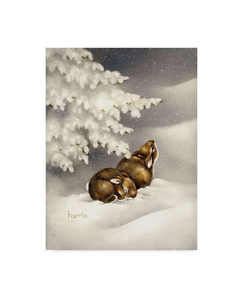 "Trademark Global Peggy Harris 'Peace On Earth Rabbit' Canvas Art - 14"" x 19"""