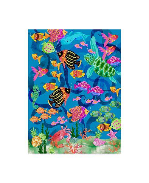 "Trademark Global Lisa Powell Braun 'Underwater Scenic' Canvas Art - 14"" x 19"""