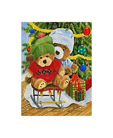 "Mary Irwin 'Teddy Bear Christmas' Canvas Art - 14"" x 19"""