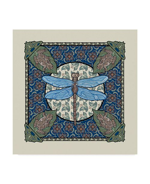 "Trademark Global Michele Meissner 'Apple Dragonfly' Canvas Art - 18"" x 18"""