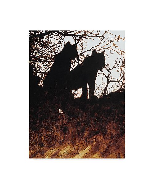 "Trademark Global Michael Jackson 'Silhouettes Of Tigers' Canvas Art - 14"" x 19"""