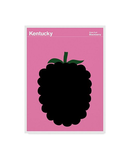 """Trademark Global Print Collection - Artist 'Kentucky Blackberry' Canvas Art - 18"""" x 24"""""""