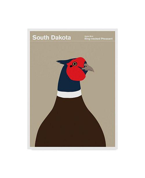 "Trademark Global Print Collection - Artist 'South Dakota Pheasant' Canvas Art - 18"" x 24"""
