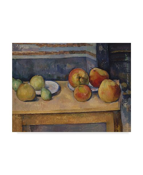 "Trademark Global Paul Cezanne 'Still Life With Apples And Pears' Canvas Art - 19"" x 14"""