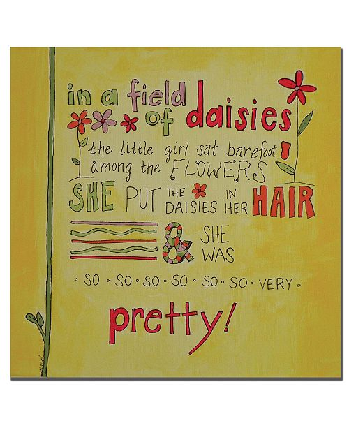 "Trademark Global Nicole Dietz 'Daisy Girl' Canvas Art - 18"" x 18"""