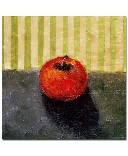 "Trademark Global Michelle Calkins 'Red Apple Still Life' Canvas Art - 18"" x 18"""