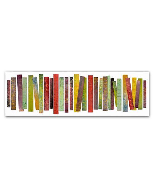 "Trademark Global Michelle Calkins 'Thirty Stripes 2.0' Canvas Art - 19"" x 6"""