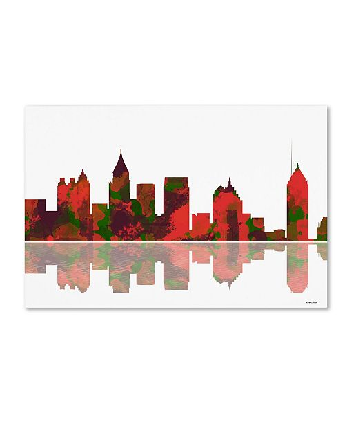 "Trademark Global Marlene Watson 'Atlanta Georgia Skyline II' Canvas Art - 16"" x 24"""