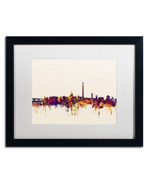 """Trademark Global Michael Tompsett 'Washington DC Skyline V' Matted Framed Art - 16"""" x 20"""""""