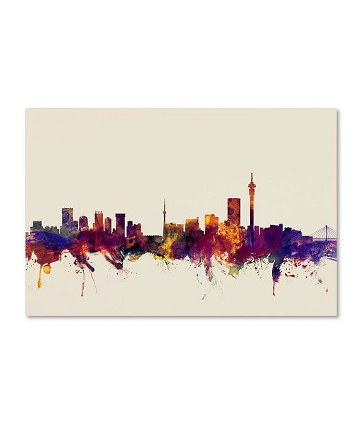 "Trademark Global Michael Tompsett 'Johannesburg Skyline' Canvas Art - 22"" x 32"""