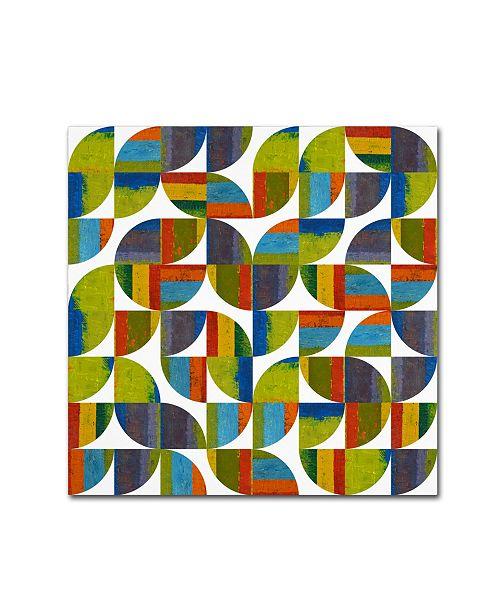 "Trademark Global Michelle Calkins 'Quarter Rounds 5.0' Canvas Art - 24"" x 24"""